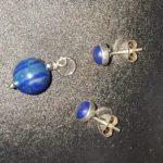 Conjunto de Pendientes y Colgante Lapislázuli de Plata